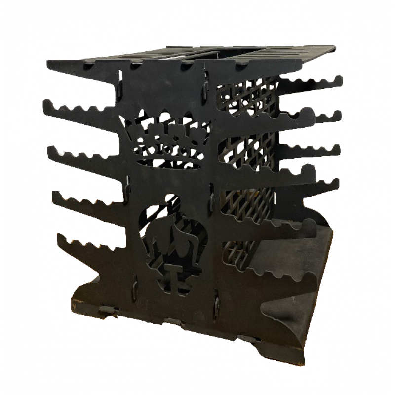 Мангал вертикальный разборный усиленный, Модель 001