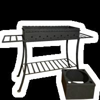 Мангал со съемным подказанником, Модель 002